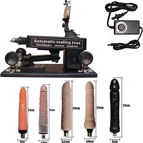 Automatische Dildo Sexmaschine Extreme elektrische Verlängerung Ficken Sex Maschinengewehr Liebe Push Geschwindigkeit Einstellbare Sexmaschine Teleskopaufsatz mit Saugnapf für Frauen Männer Dildos