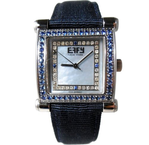 Effy Diamond Blue Sapphire 1.64 Tcw Unisex Luxury New Unique Brand Exotic Watch - Watch Effy