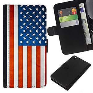 """Be-Star la tarjeta de Cr¨¦dito Slots PU Funda de cuero Monedero caso cubierta de piel Para HTC DESIRE 816 ( Bandera nacional de la Serie-Estados Unidos"""" )"""