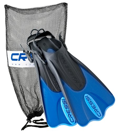 Cressi Palau Short Fins with Mesh Bag Snorkel...