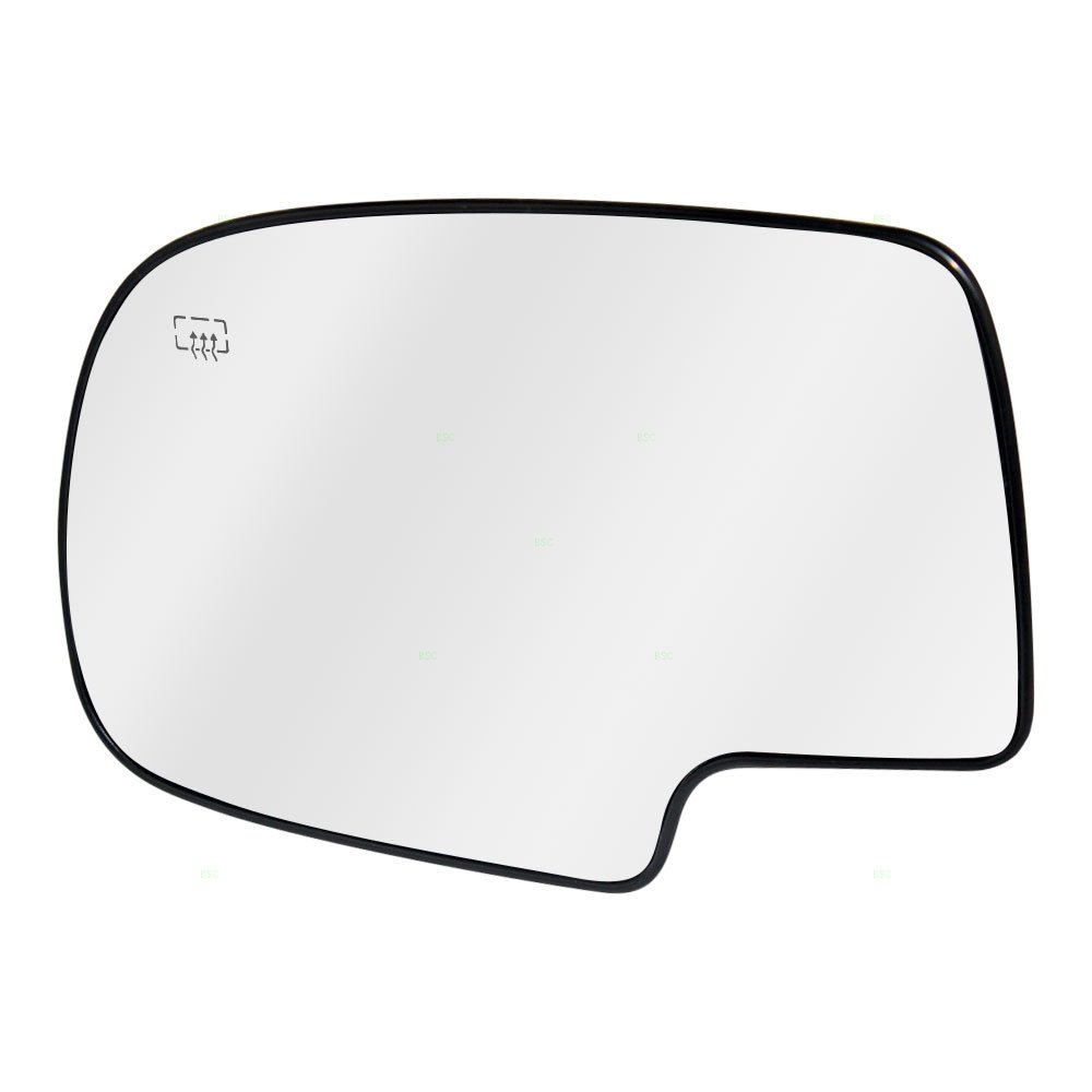 Drivers Power Side View Mirror Glass and Base Heated Replacement for Chevrolet Cadillac GMC Pickup Truck SUV 88986362 AUTOANDART
