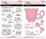 Simply Clear Stamps Coffee Cup or Tea Mug Steel Die Set Christian Religious (2-Pack) 4x6 Inch Sheets - 25 Pieces