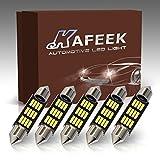 KAFEEK 5×41mm 569 578 211-2 212-2 LED Bulb 4014 Chipset Canbus Error Free Dome Light Trunk Light Map Light,White