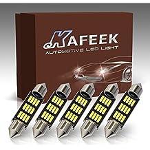 KAFEEK 5× 9-30V Super Bright 41mm 569 578 211-2 212-2 LED Bulb 4014 Chipset Canbus Error Free Dome Light Trunk Light Map Light,White