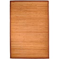 "2' X 3' (24"" X 36"") Natural Bamboo Floor Rug"