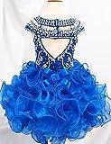 Weiai Toddler Girls Ruffles Beaded Short Cupcake Pageant Dresses