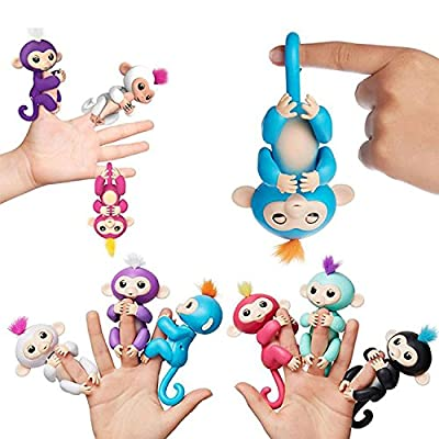 Finger Monkey Interactive Baby Pet Monkey Toy Assorted Any Colour Finger Toys Puppets by generic