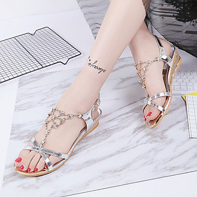 Low Club Sandals Fashion UK6 Shoes 5 Rhinestone All Women'S Summer Casual 5 US8 Match Heel Gold RTRY Comfort Spring Beach Sliver CN40 Dress EU39 8O5qwYf