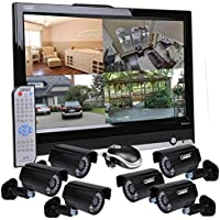 Sumas SM-DV19A118 8-Channel Surveillance Kit w/Built-in 19 LCD & 6 IR Cameras - Just Add Hard Drive