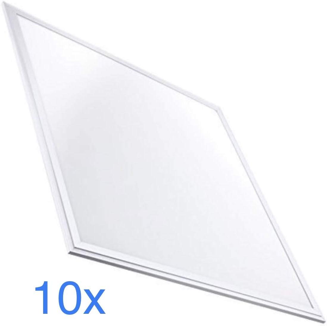 Pack 10x Panel LED Slim 60x60 cm, 40w, Color Blanco Frío (6500K). 3200 Lumenes. Driver incluido. A++