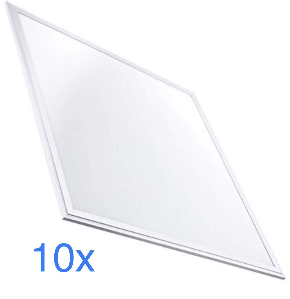 (La) 10x LED-Panel Slim 60 x 60 cm, 40 W 3200 lm, Kaltweiß 6500 K
