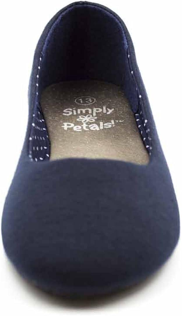 Simply Petals Girls Slip On Jersey Ballet Flats