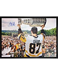 Sidney Crosby Signed 20x29 Canvas Framed Penguins 2017 Cup Rally-H 5b7332ad4