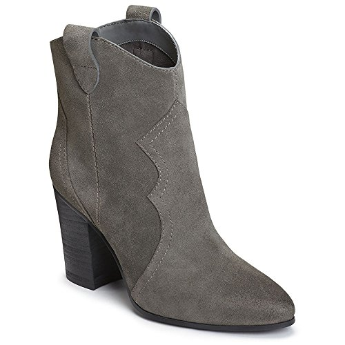 Aerosoles Women's Lincoln Square Ankle Boot, Grey Suede, 9.5 M -