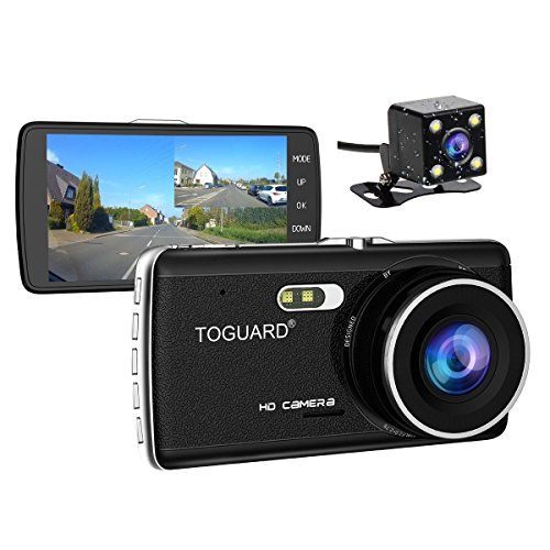 TOGUARD Full HD 1080P Dual Dash Dam 4.0 inch LCD Screen Car Dash Cam DVR,...
