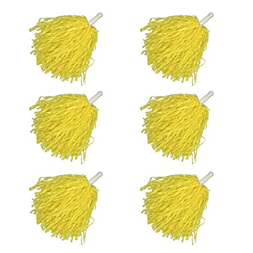 12 Pack Plastic Cheerleading Pom Poms Sports Dance Cheer for Sports Team Spirit Cheering ()