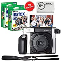 Cámara Fujifilm INSTAX Wide 300 y 2 x Paquete de película ancha Instax de tamaño doble - 40 hojas