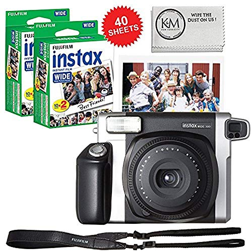 Film Holder Sheet (Fujifilm INSTAX Wide 300 Camera and 2 x Instax Wide Film Twin Pack - 40 Sheets)