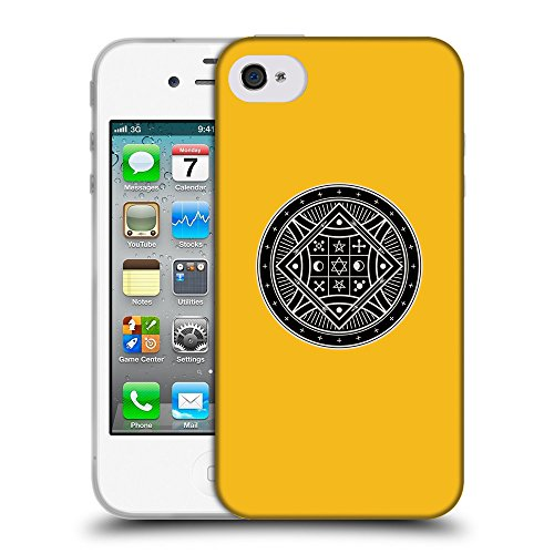 GoGoMobile Coque de Protection TPU Silicone Case pour // Q08290602 Mystique occulte 8 ambre // Apple iPhone 4 4S 4G