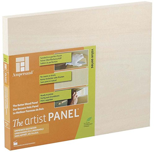 Artist Panel Unprimed Basswood 7/8 Inch 9X12 (12 X 12 Wood Panel compare prices)