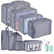Packing Cubes for Suitcase,Geediar 9 PCS Travel Luggage Packing Organizers Waterproof Travel Essentials Bag Clothes…