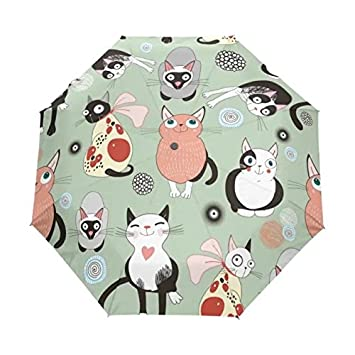 Estilo japonés dibujos animados gato paraguas hombre y mujer plegable paraguas doble uso lluvia y sol