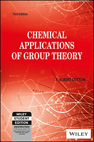 Chemical Applications Of Group Theory, 3Rd Ed