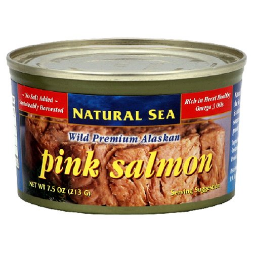 Natural Sea Premium Alaskan Pink Salmon, 7.5-Ounce Cans (Pack of 12) by Natural Sea
