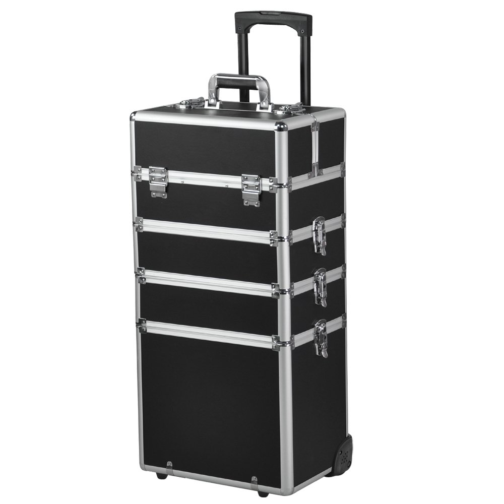Chinkyboo New Arrival In Pro Large Aluminum Rolling - Aluminum trolley case pro rolling makeup cosmetic organizer