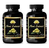 Immune support - NONI EXTRACT 500Mg - Morinda pure - 2 Bottles 120 Capsules