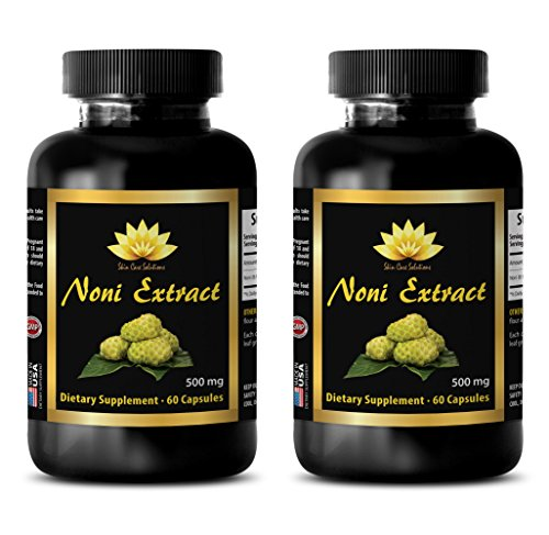 Immune support - NONI EXTRACT 500Mg - Morinda pure - 2 Bottles 120 Capsules by SKIN CARE SOLUTIONS