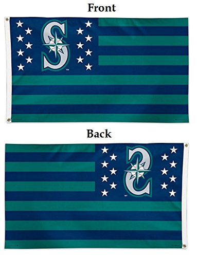 Wincraft MLB Seattle Mariners 02711215 Deluxe Flag, 3' x 5'