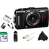 Olympus OLYTG4BL-16GB4PC Stylus 16 Waterproof Digital Camera with 4x OIS Zoom, 3