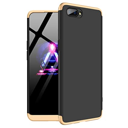 big sale 29fed a86b8 ECOSMOS ® Oppo A3s Back Case Cover: Full Body 3-in-1 Slim Fit Complete 3D  360 Degree Protection Hybrid Hard Bumper (Gold and Black)