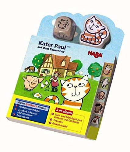 Price comparison product image Kater Paul auf dem Bauernhof (Rahmenpuzzle),  m. Holzwürfel u. -figur
