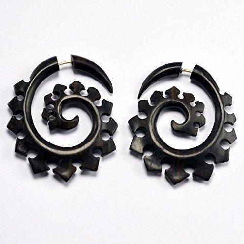 Amazon Com Fake Gauges Tribal Spiral Fake Gauge Earrings