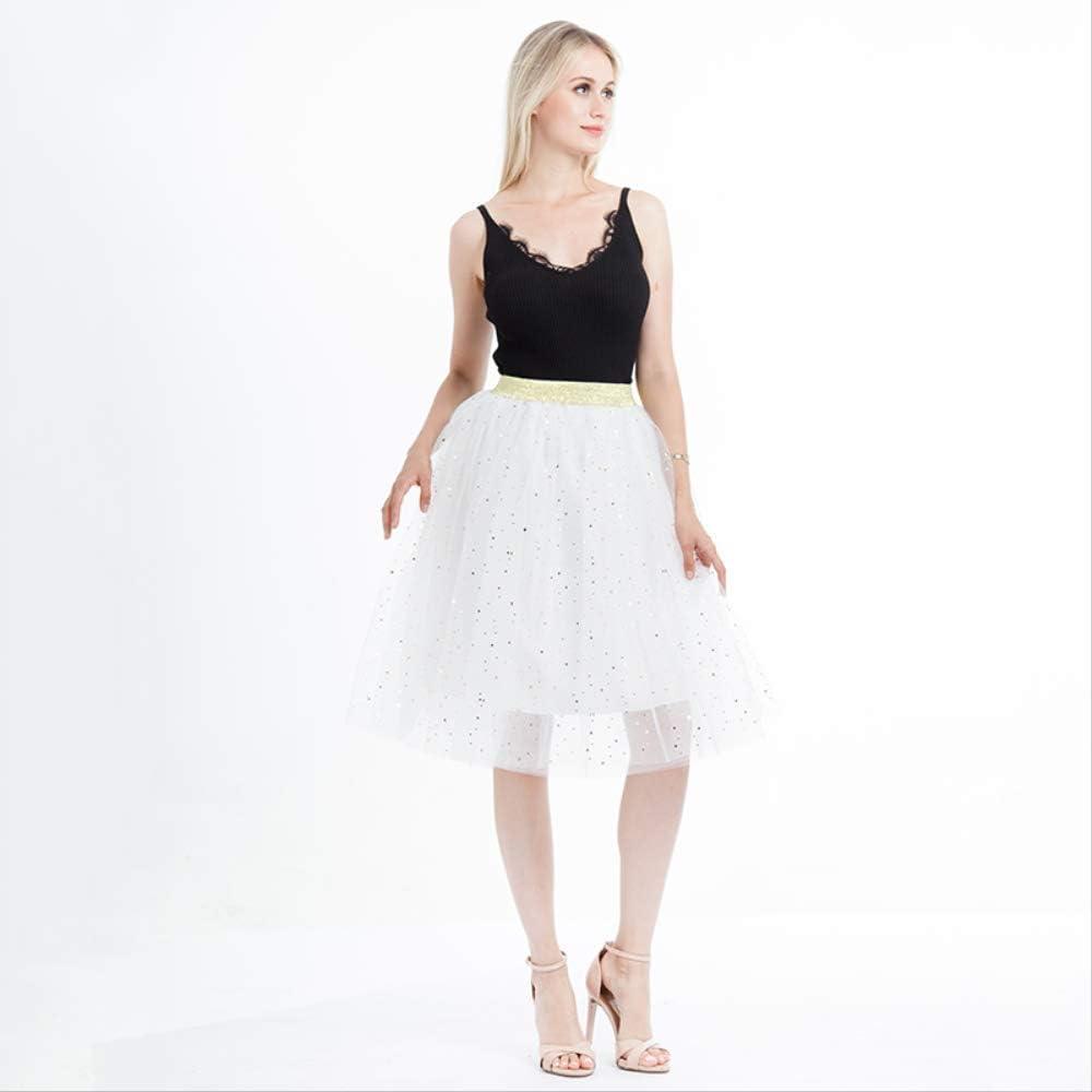 QYYDBSQ Verano Mujer Estrella Glitter Dance Tutu Falda para Señora ...
