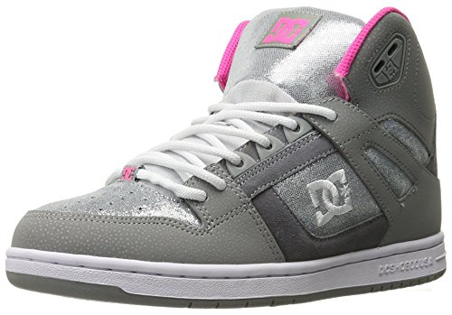 DC Shoes Rebound Hi SE Round Toe Leather Skate Shoe