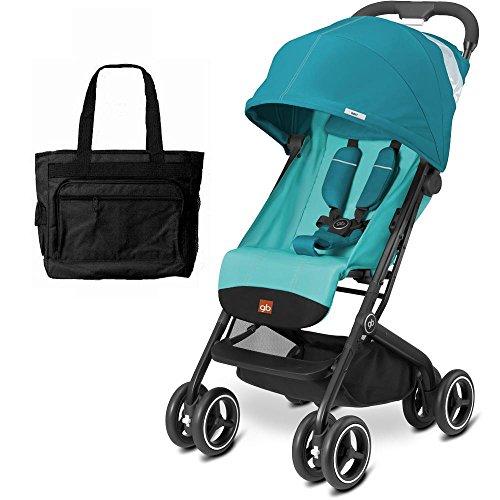 Goodbaby GB QBIT Plus Baby Stroller with Diaper Bag Capri Blue