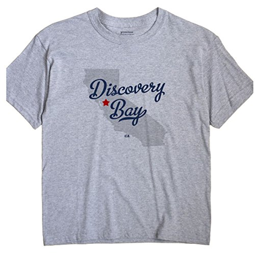 Discovery Bay California CA MAP GreatCitees Unisex Souvenir T (Discovery Bay)