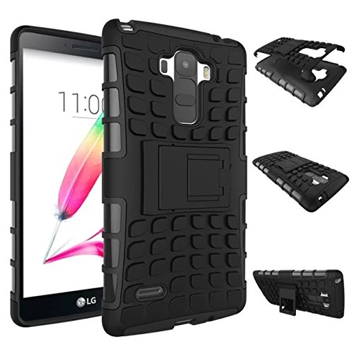 LG G Stylo(LG G4 STYLUS ls 700) Case, Sophia Shop Heavy Duty Tough Rugged Dual Layer 2 in 1 ToughBox with Built-in Kickstand, TANK Series Slim Fit Hybrid Armor Protective case for LG G Stylo (black)