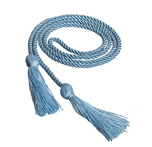 Graduation Single Color Honor Cord,15 Colors Available (Sky/Light Blue)