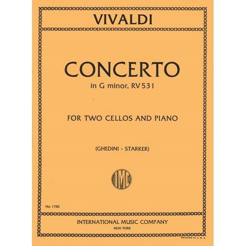 Vivaldi Antonio Concerto In g minor F III No2 RV 531 For Two Cellos and Piano. by Starker