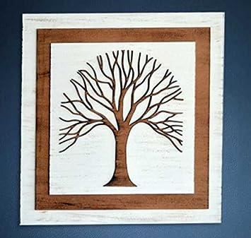Cuadro árbol Decorativo marquetería (70 x 70 cm)
