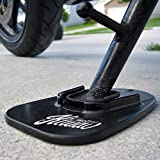 KiWAV Motorcycle Kickstand pad Support for Soft Ground Outdoor Parking, Black (Pack of 1)