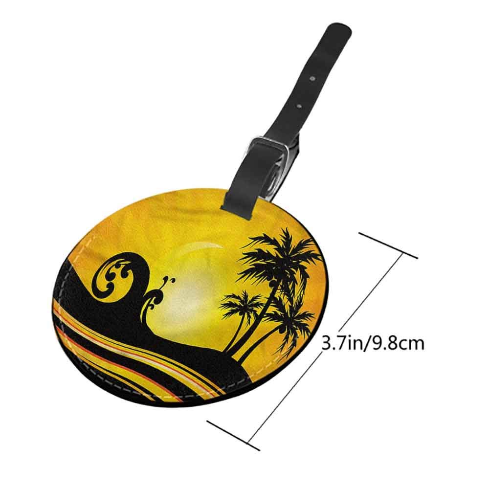 Creative Luggage Tag Beach,Mahe Island Seychelles Travel Suitcase Labels Bag