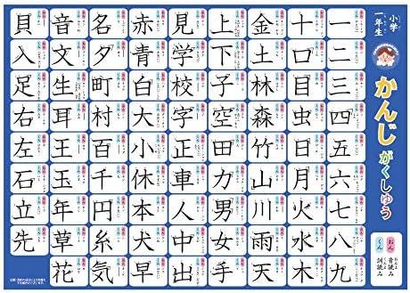 Amazon | おふろポスター小学校1年生漢字 学習 | ひらがな・カタカナ ...