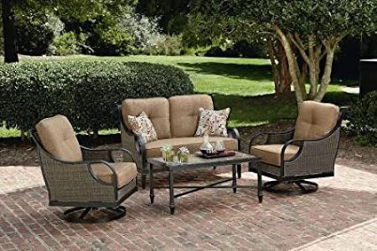 La-Z-Boy Outdoor Charlotte 4 Piece Seating Set - Amazon.com : La-Z-Boy Outdoor Charlotte 4 Piece Seating Set : Garden