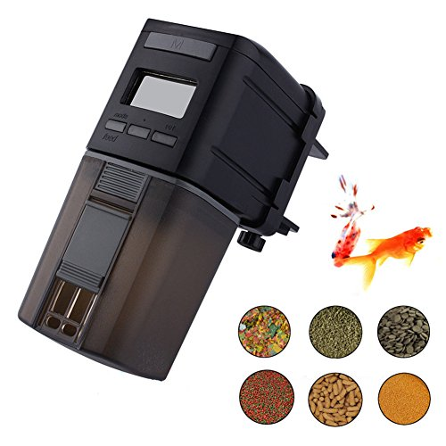 Fish Feeder, Automatic Fish Feeder, MONOLED Auto Aquarium Food Dispenser Timer for Fish Tank (Batteries Included) (Auto Fish Feeder)