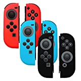Silicone Cover Skins for Joy-Con Controller - Compatible with Nintendo Switch (3-Color Pack) | Anti Slip | Soft Top Quality Silicone | Ergonomic Design